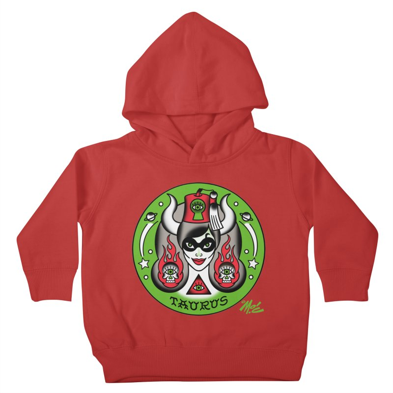 TAURUS! Kids Toddler Pullover Hoody by Mitch O'Connell