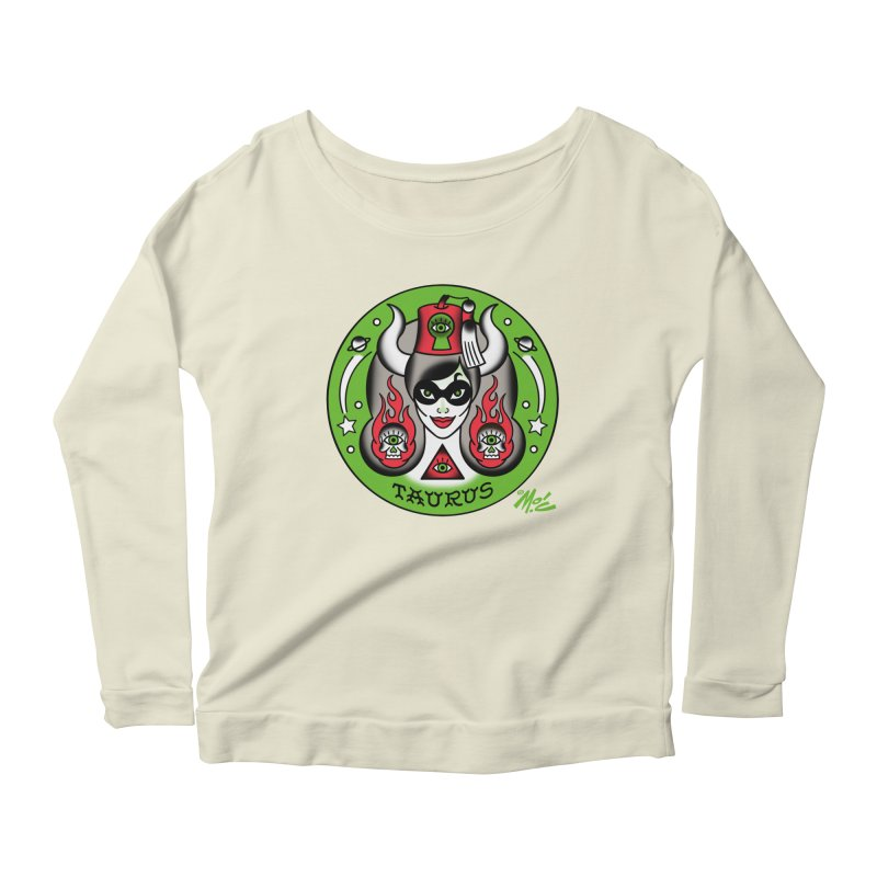 TAURUS! Women's Longsleeve Scoopneck  by Mitch O'Connell