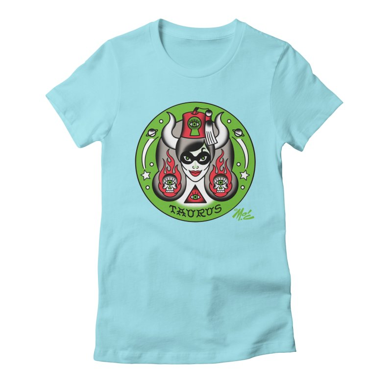 TAURUS! Women's Fitted T-Shirt by Mitch O'Connell