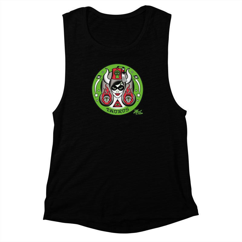 TAURUS! Women's Muscle Tank by Mitch O'Connell