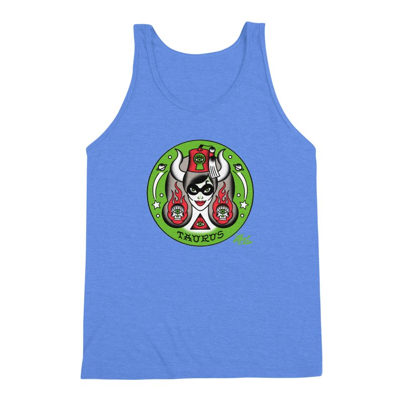 TAURUS! Men's Triblend Tank by Mitch O'Connell