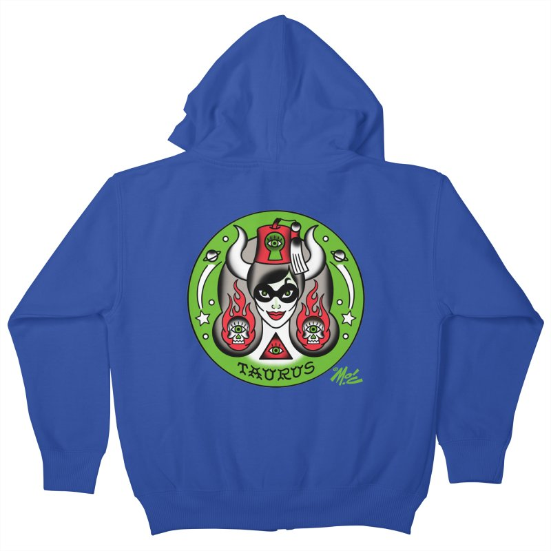 TAURUS! Kids Zip-Up Hoody by Mitch O'Connell