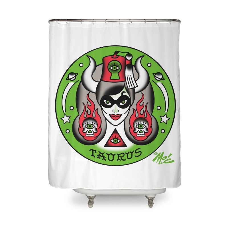 TAURUS! Home Shower Curtain by Mitch O'Connell