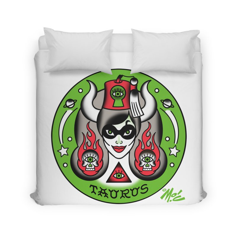 TAURUS! Home Duvet by Mitch O'Connell