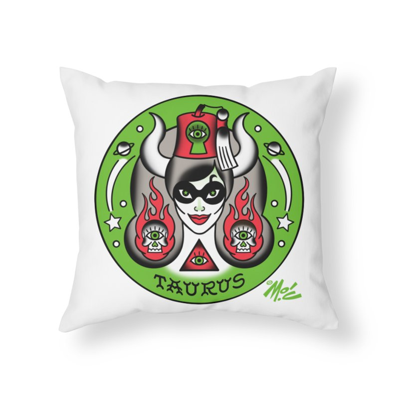 TAURUS! Home Throw Pillow by Mitch O'Connell