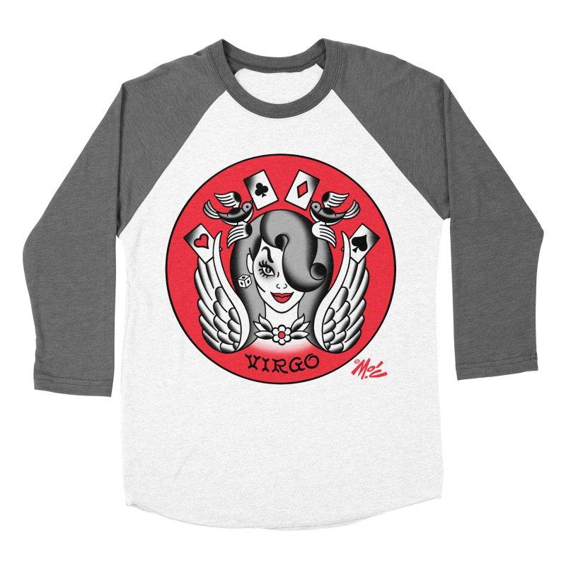 VIRGO! Women's Baseball Triblend T-Shirt by Mitch O'Connell