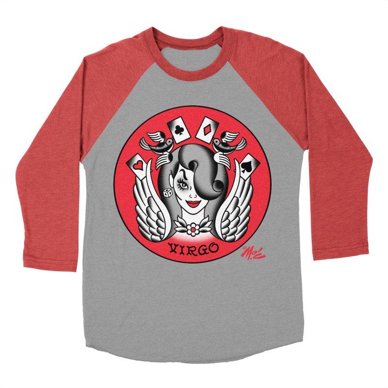 VIRGO! Men's Baseball Triblend T-Shirt by Mitch O'Connell