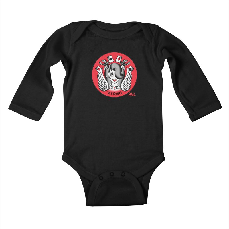 VIRGO! Kids Baby Longsleeve Bodysuit by Mitch O'Connell