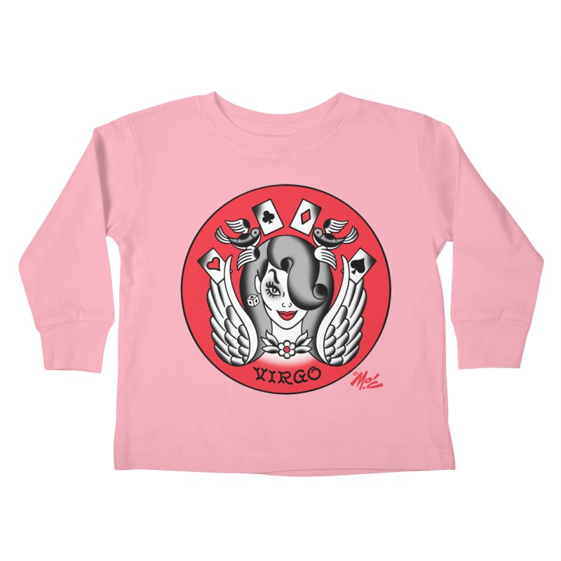 VIRGO! Kids Toddler Longsleeve T-Shirt by Mitch O'Connell