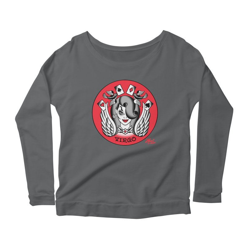 VIRGO! Women's Longsleeve Scoopneck  by Mitch O'Connell