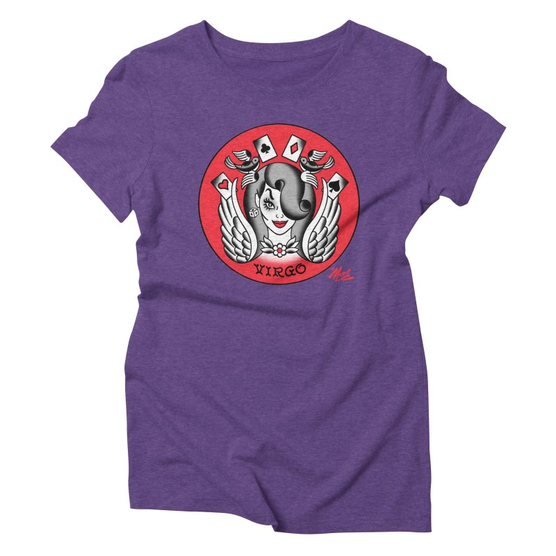 VIRGO! Women's Triblend T-shirt by Mitch O'Connell