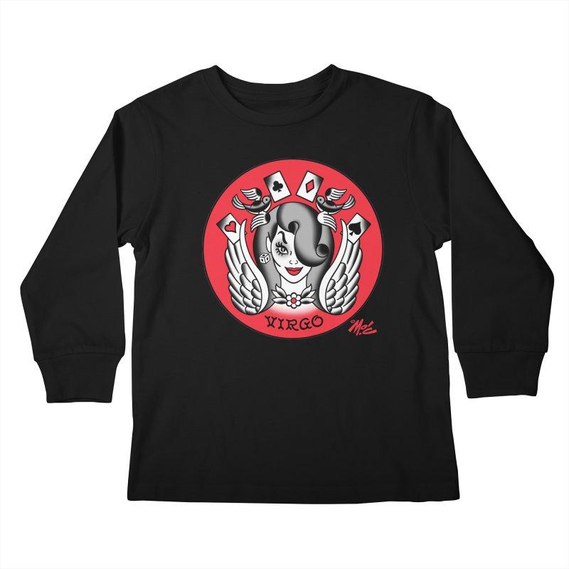 VIRGO! Kids Longsleeve T-Shirt by Mitch O'Connell