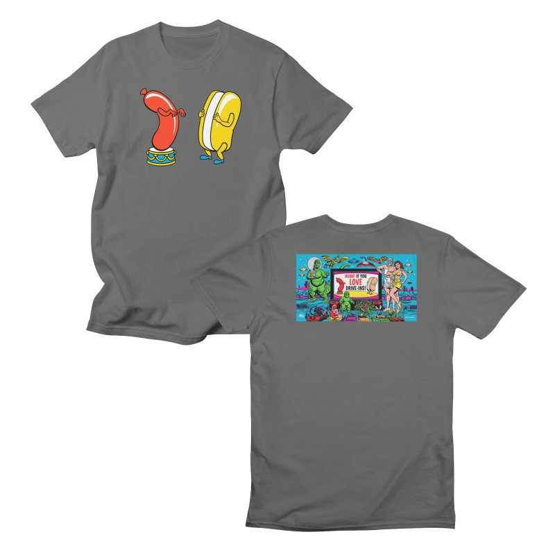 I Love Drive-Ins! Men's T-Shirt by Mitch O'Connell