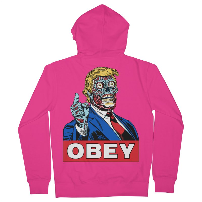TRUMP/THEY LIVE OBEY! Men's Zip-Up Hoody by Mitch O'Connell