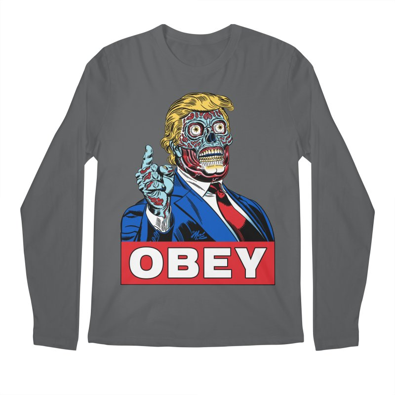 TRUMP/THEY LIVE OBEY! Men's Regular Longsleeve T-Shirt by Mitch O'Connell