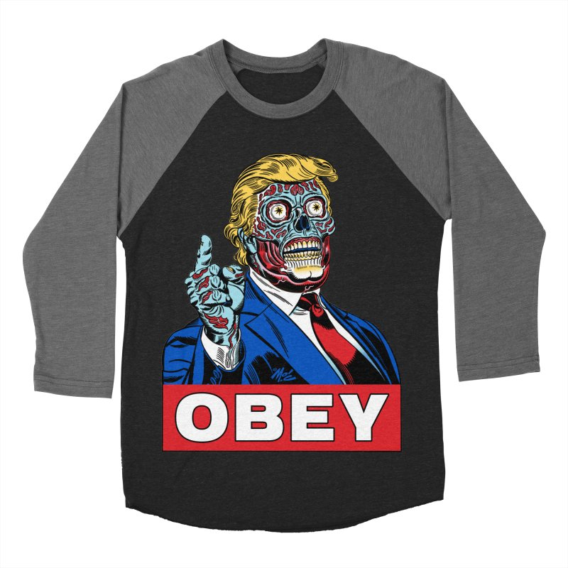 TRUMP/THEY LIVE OBEY! Women's Baseball Triblend Longsleeve T-Shirt by Mitch O'Connell