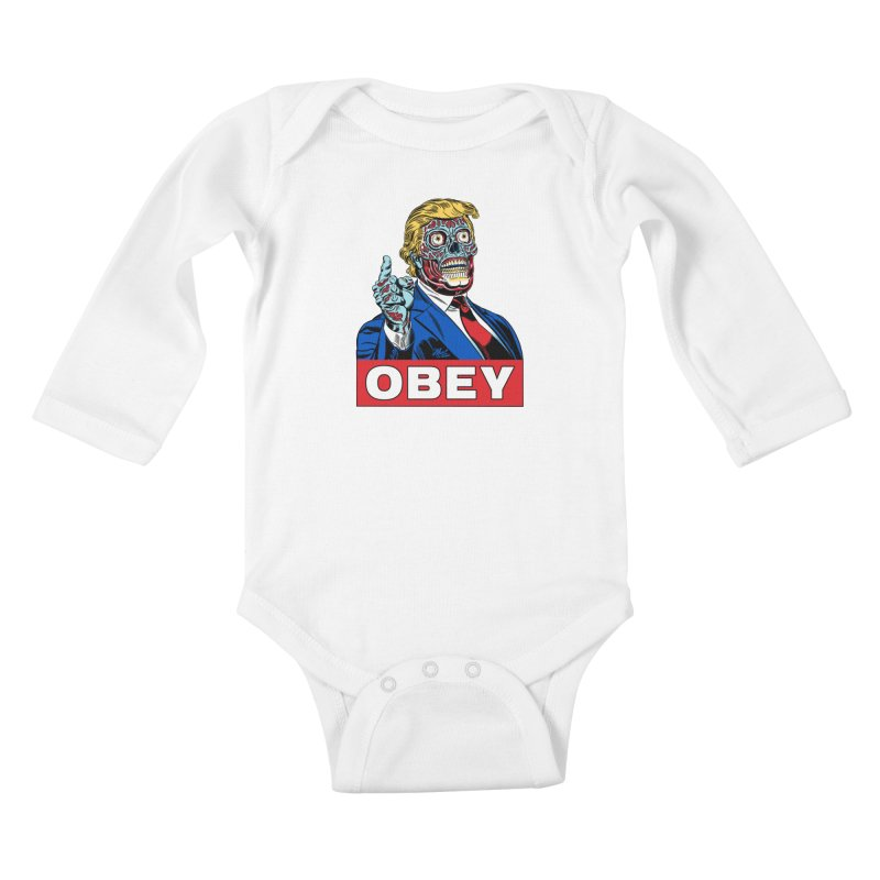 TRUMP/THEY LIVE OBEY! Kids Baby Longsleeve Bodysuit by Mitch O'Connell