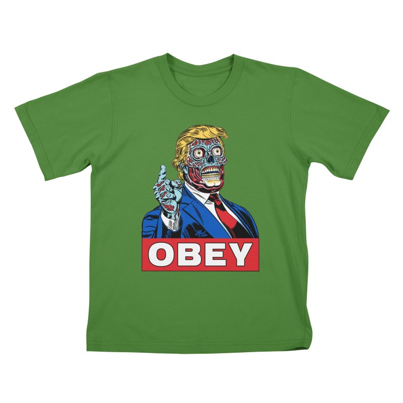 TRUMP/THEY LIVE OBEY! Kids T-Shirt by Mitch O'Connell