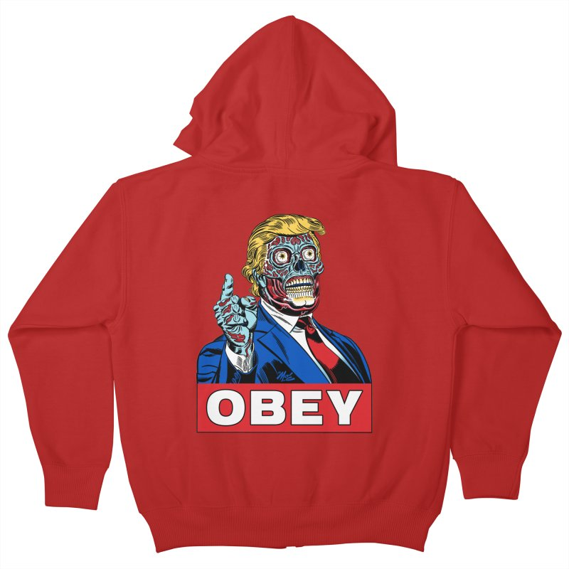 TRUMP/THEY LIVE OBEY! Kids Zip-Up Hoody by Mitch O'Connell