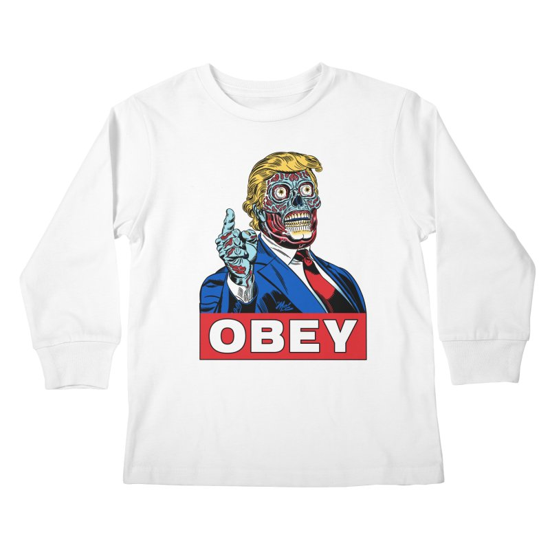 TRUMP/THEY LIVE OBEY! Kids Longsleeve T-Shirt by Mitch O'Connell