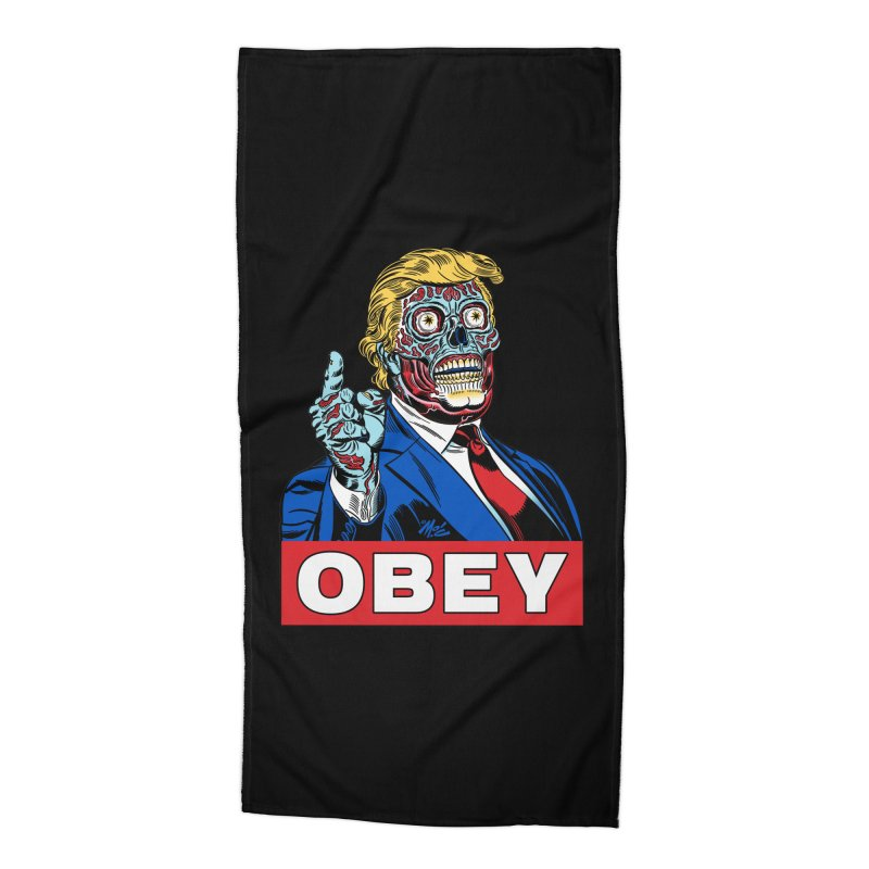TRUMP/THEY LIVE OBEY! Accessories Beach Towel by Mitch O'Connell