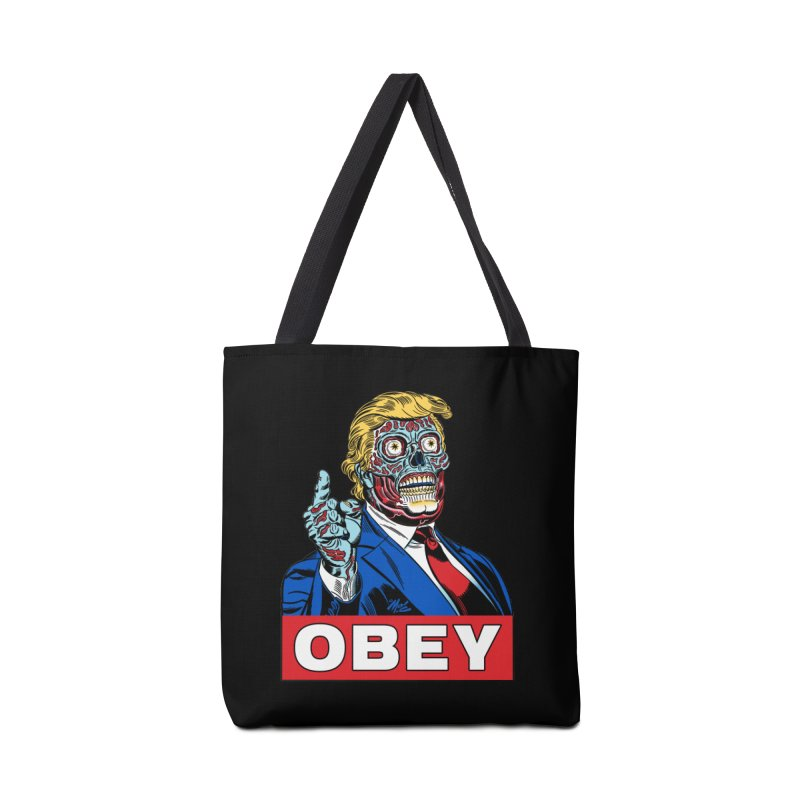 TRUMP/THEY LIVE OBEY! Accessories Tote Bag Bag by Mitch O'Connell