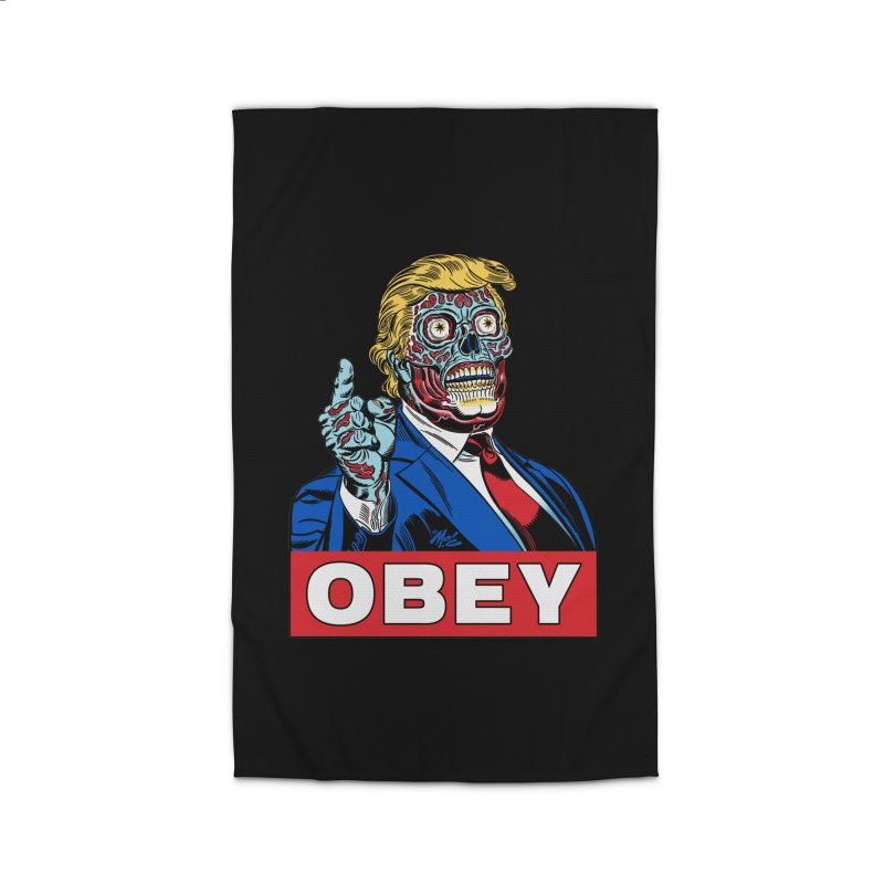 TRUMP/THEY LIVE OBEY! Home Rug by Mitch O'Connell