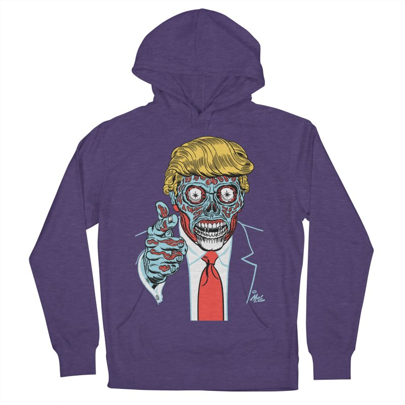 'Trump/They Live' Classic! Men's Pullover Hoody by Mitch O'Connell