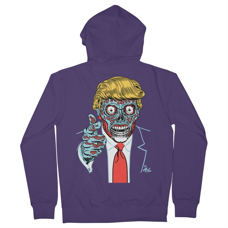 'Trump/They Live' Classic! Women's Zip-Up Hoody by Mitch O'Connell