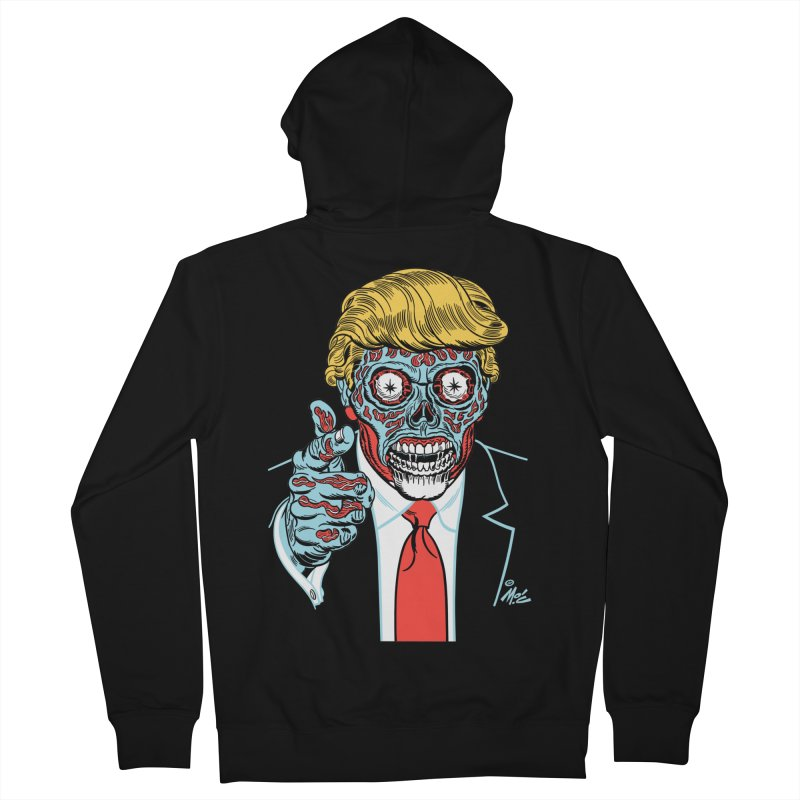 'Trump/They Live' Classic! Men's Zip-Up Hoody by Mitch O'Connell