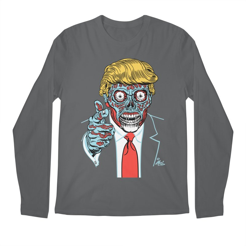 'Trump/They Live' Classic! Men's Longsleeve T-Shirt by Mitch O'Connell