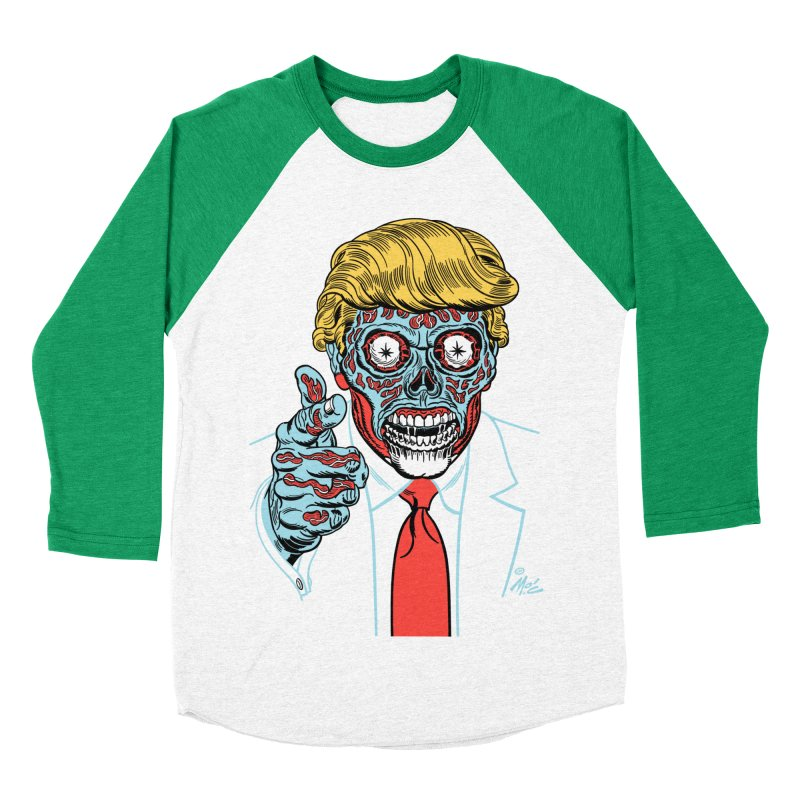 'Trump/They Live' Classic! Men's Baseball Triblend T-Shirt by Mitch O'Connell