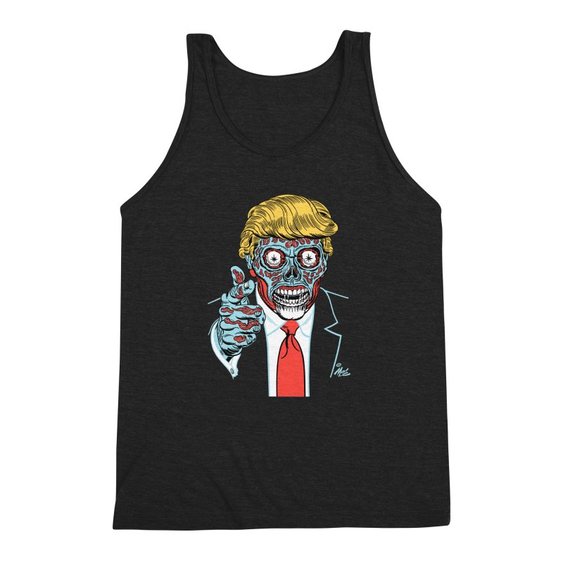 'Trump/They Live' Classic! Men's Triblend Tank by Mitch O'Connell