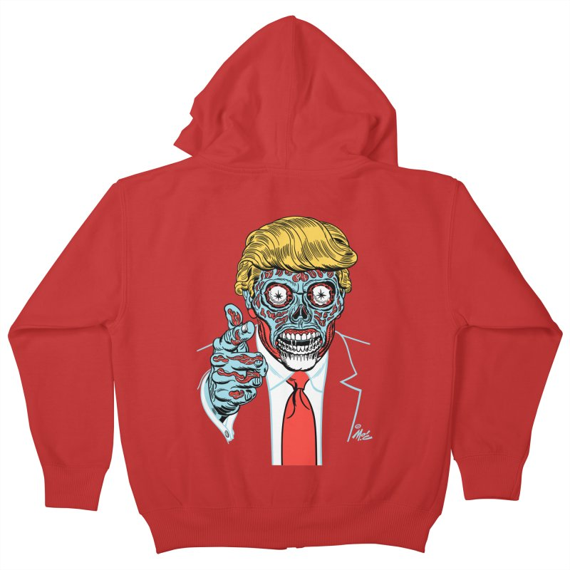'Trump/They Live' Classic! Kids Zip-Up Hoody by Mitch O'Connell
