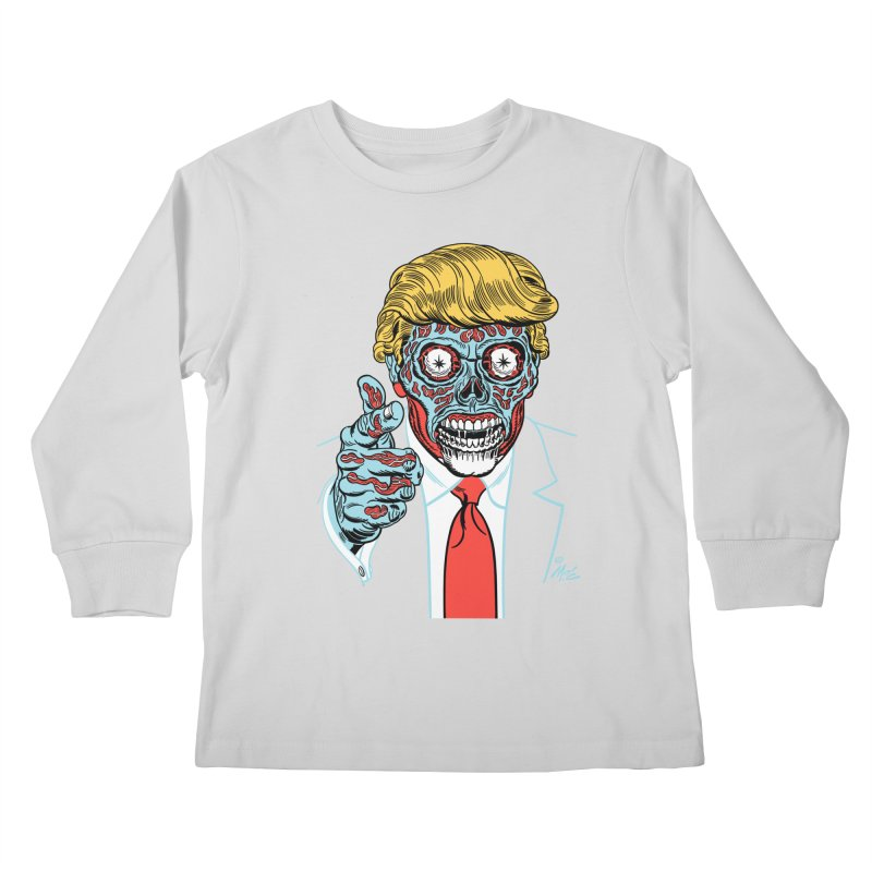 'Trump/They Live' Classic! Kids Longsleeve T-Shirt by Mitch O'Connell