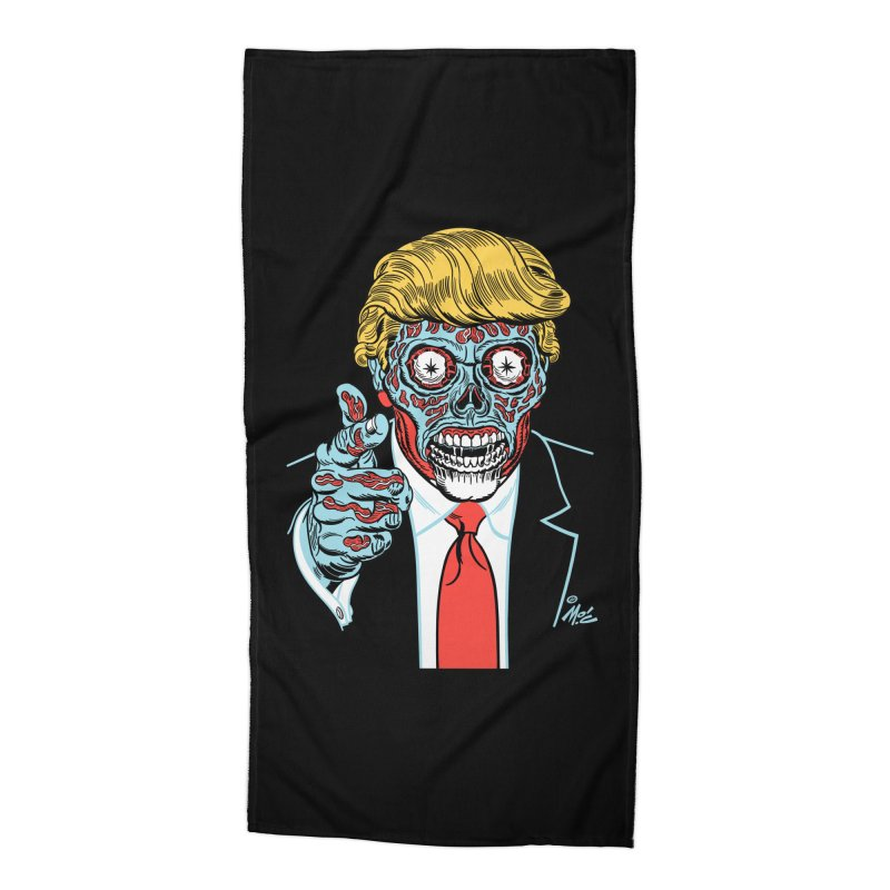 'Trump/They Live' Classic! Accessories Beach Towel by Mitch O'Connell