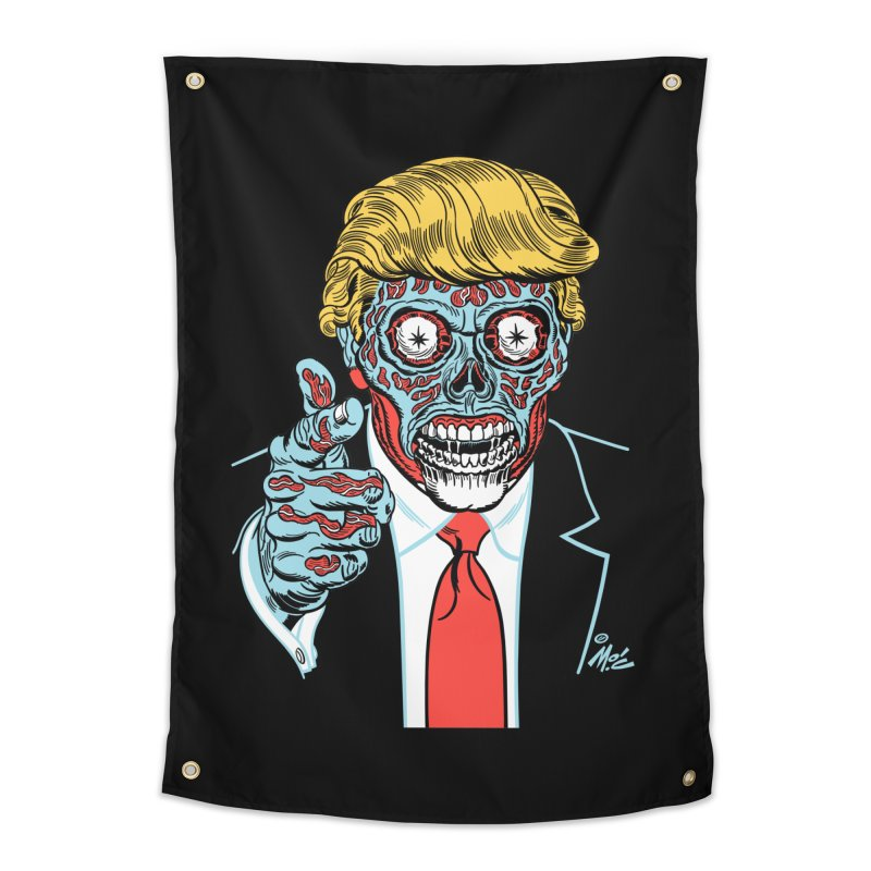 'Trump/They Live' Classic! Home Tapestry by Mitch O'Connell