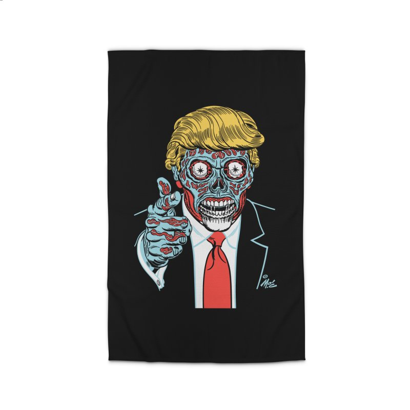 'Trump/They Live' Classic! Home Rug by Mitch O'Connell