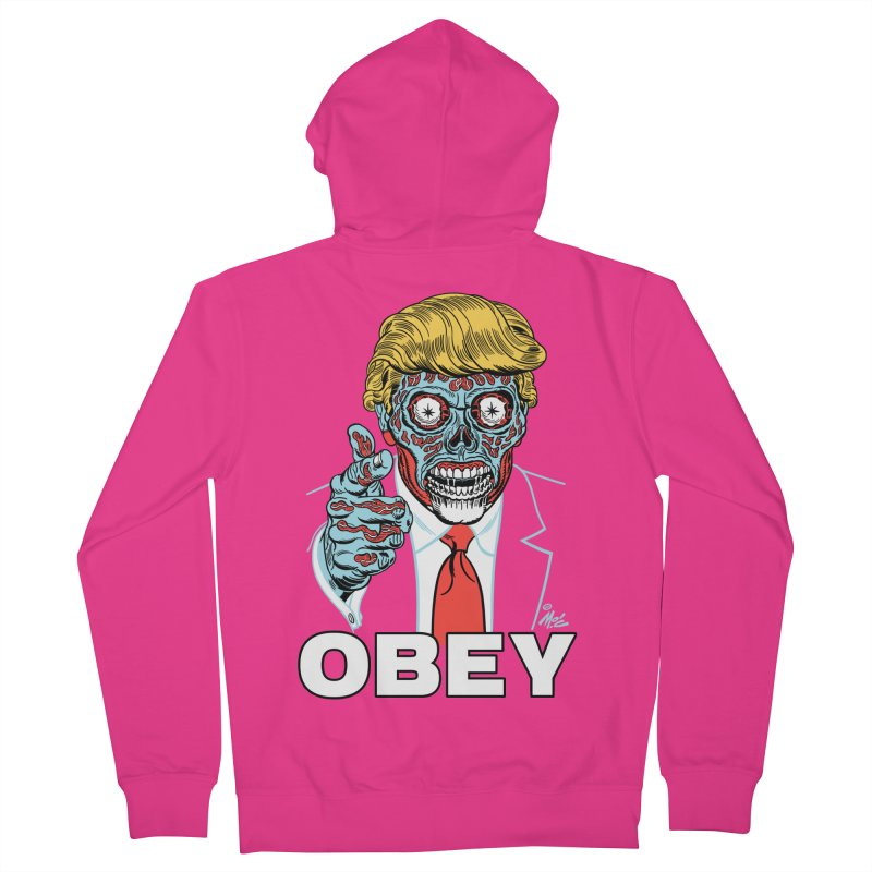 TRUMP LIVES! YOU OBEY! Men's Zip-Up Hoody by Mitch O'Connell