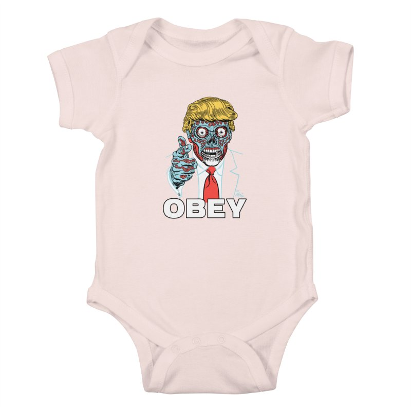 TRUMP LIVES! YOU OBEY! Kids Baby Bodysuit by Mitch O'Connell