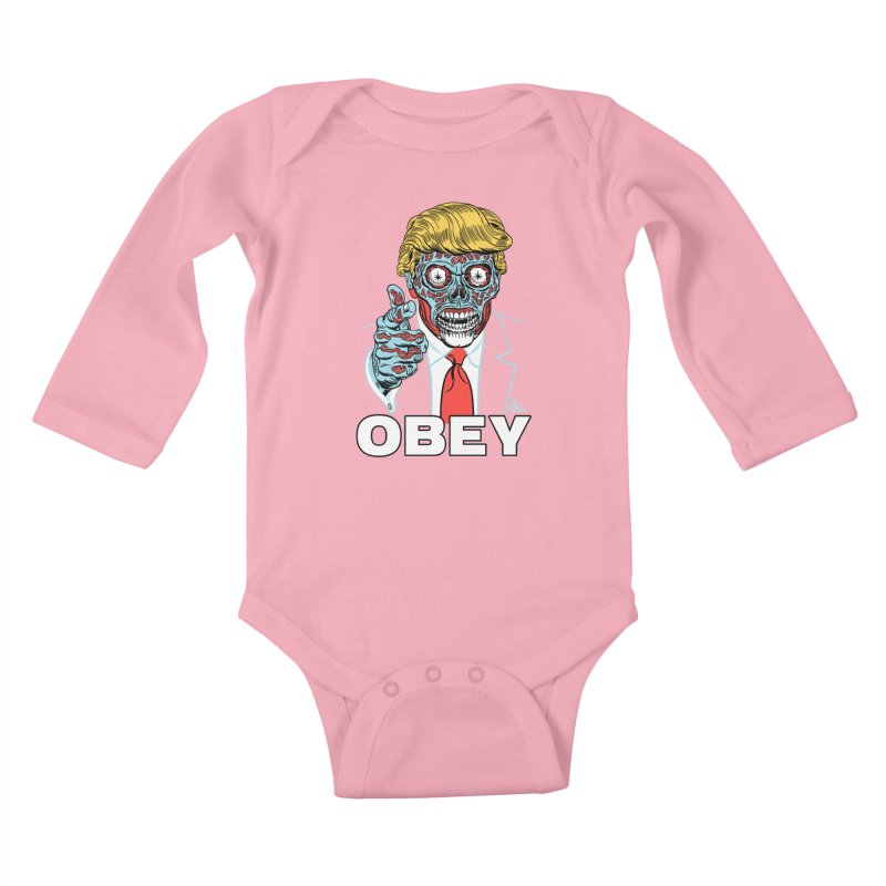 TRUMP LIVES! YOU OBEY! Kids Baby Longsleeve Bodysuit by Mitch O'Connell