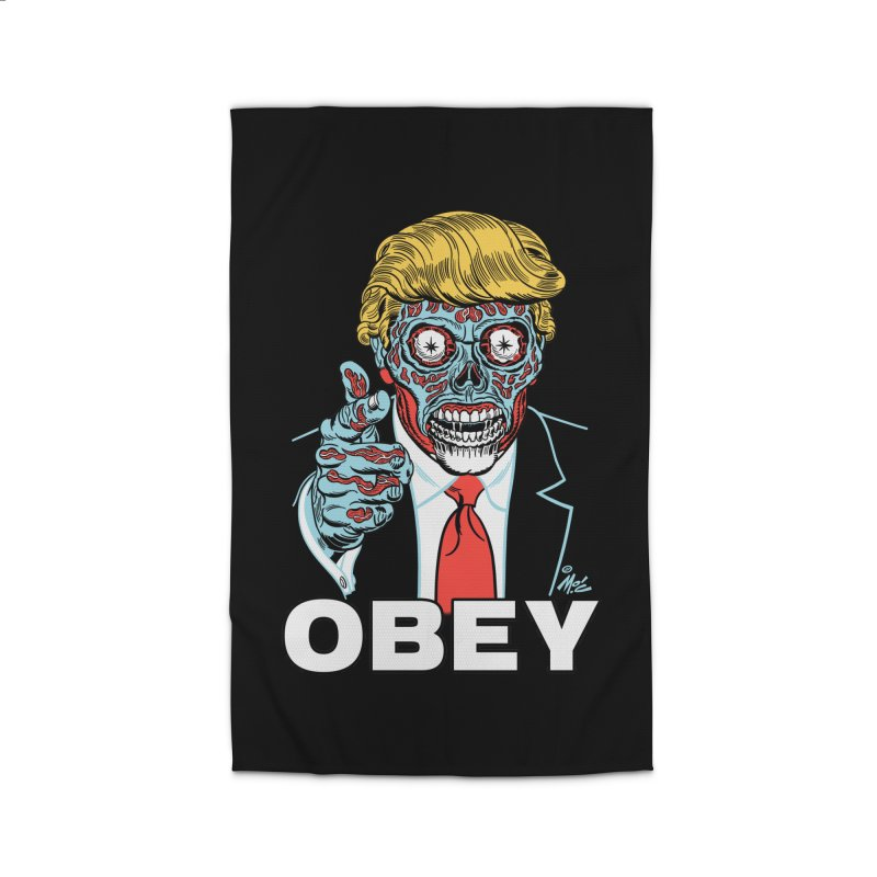 TRUMP LIVES! YOU OBEY! Home Rug by Mitch O'Connell
