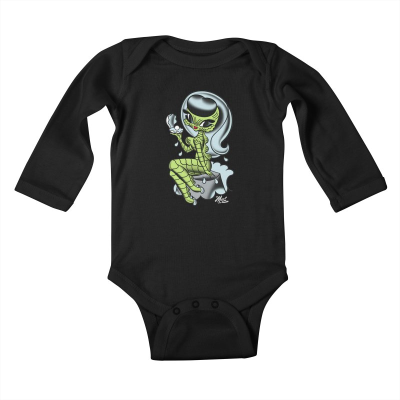 Creature Cutie! Kids Baby Longsleeve Bodysuit by Mitch O'Connell