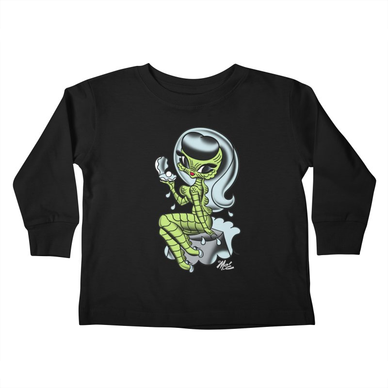Creature Cutie! Kids Toddler Longsleeve T-Shirt by Mitch O'Connell