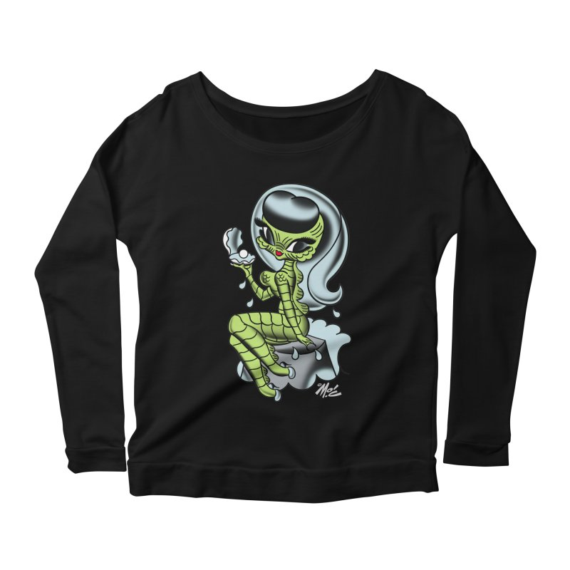 Creature Cutie! Women's Longsleeve Scoopneck  by Mitch O'Connell