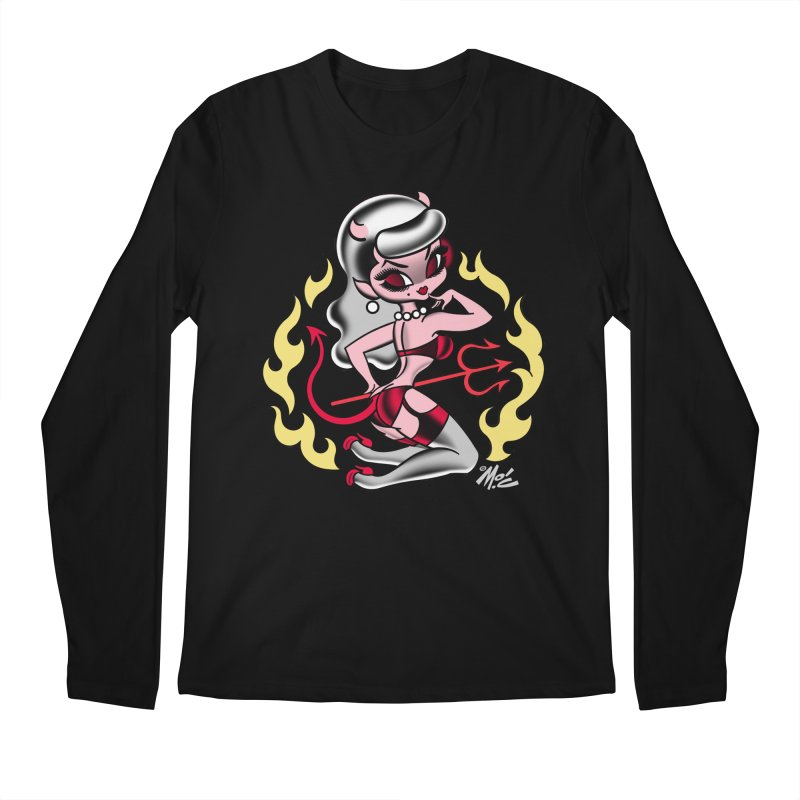Satan's Sweetheart! Men's Longsleeve T-Shirt by Mitch O'Connell