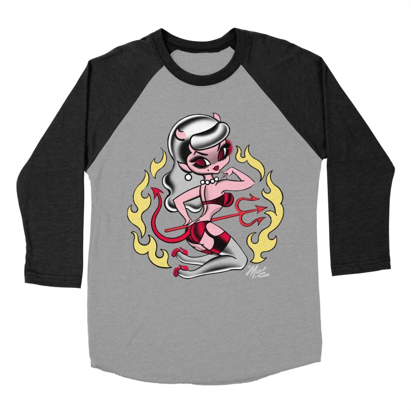 Satan's Sweetheart! Women's Baseball Triblend T-Shirt by Mitch O'Connell