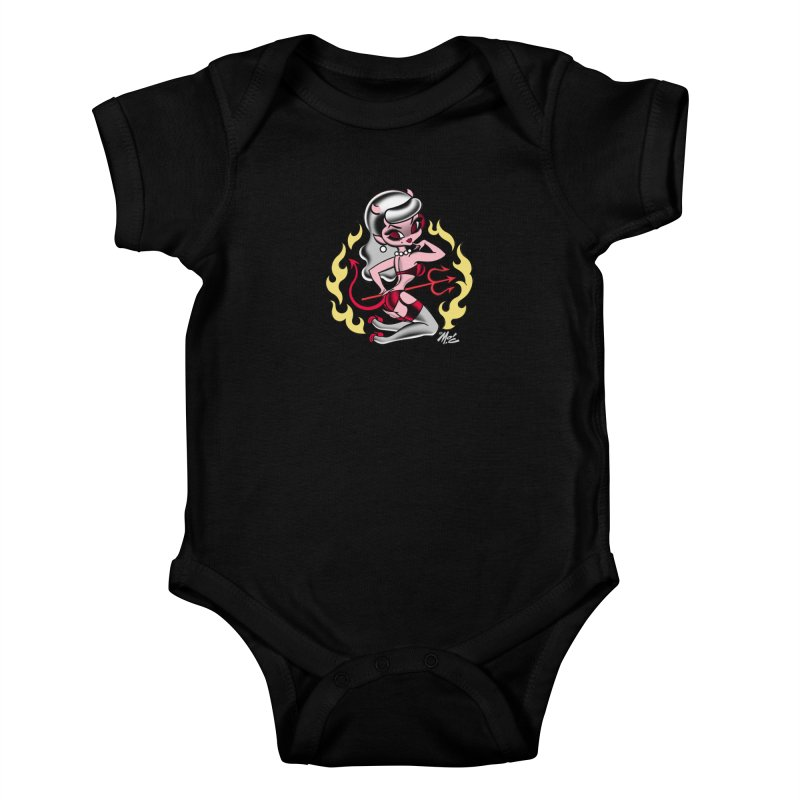 Satan's Sweetheart! Kids Baby Bodysuit by Mitch O'Connell
