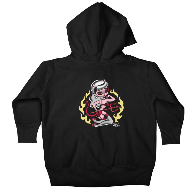 Satan's Sweetheart! Kids Baby Zip-Up Hoody by Mitch O'Connell