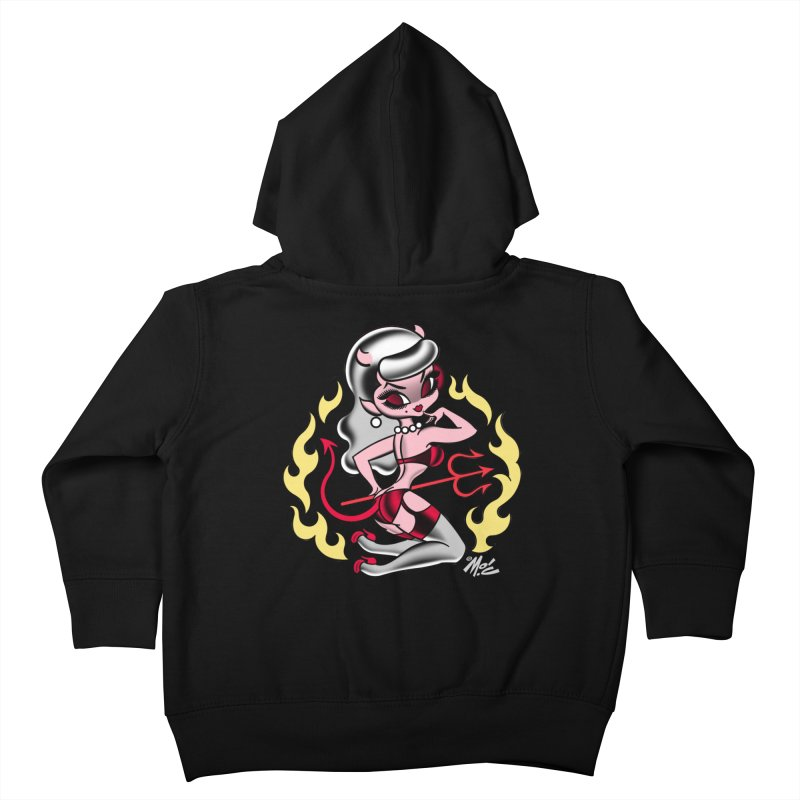 Satan's Sweetheart! Kids Toddler Zip-Up Hoody by Mitch O'Connell